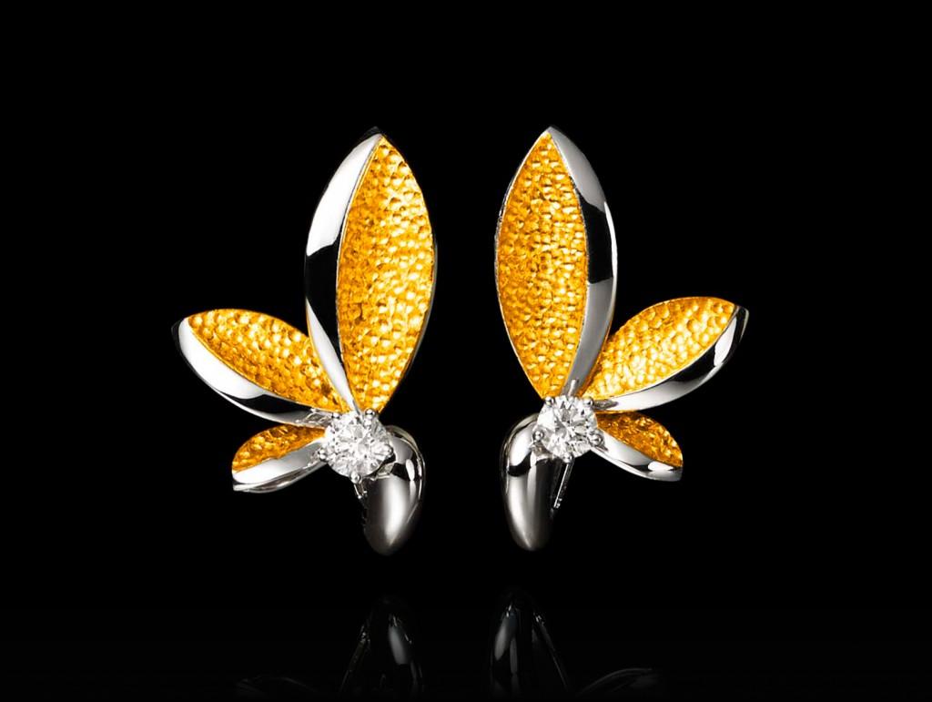 Boucles d'oreilles Plumeria